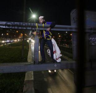 [FOTOS] Autopista Central paralizada por protesta de estudiantes