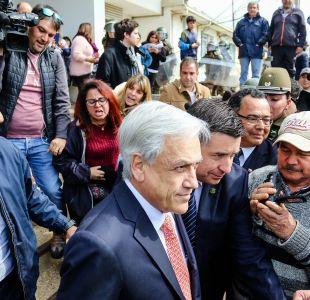 [VIDEO] Presidente Piñera llega a Quintero en medio de protestas por contaminación