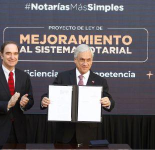 [VIDEO] Piñera envía proyecto para eliminar irritantes trámites notariales
