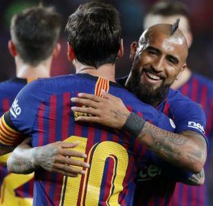 [VIDEO] Vidal responde a elogios de Messi y cuenta cómo es la relación con él en Barcelona