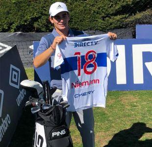 [VIDEO] Golfista chileno Joaquín Niemann visita San Carlos y pone a prueba a jugadores de la UC