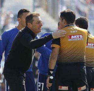 Frank Kudelka fue sancionado con dos partidos por insultos a Bascuñán en el Superclásico