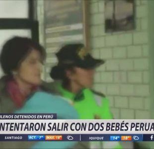 Ordenan prueba de ADN a chilenos detenidos en Perú por caso de vientre de alquiler