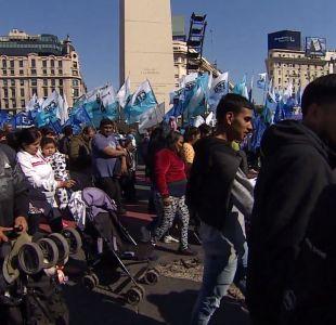 [VIDEO] T13 en Argentina: Protestas se toman las calles