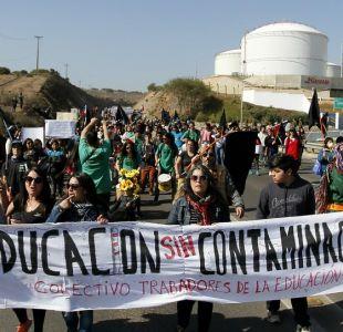[VIDEO] Manifestaciones en Quintero y Puchuncaví por la contaminación