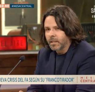 [VIDEO] Alberto Mayol: Gabriel, Giorgio y Vlado tienen carácter patrimonial en el Frente Amplio