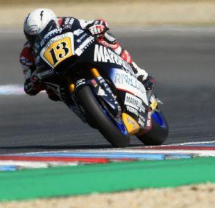 [VIDEO] Quiso pasarse de listo accionando freno de su rival en Moto2 pero acabó con su carrera