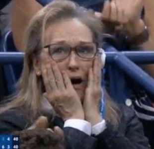 ¿Un nuevo Oscar? Las reacciones de Meryl Streep en la final del US Open se vuelven viral