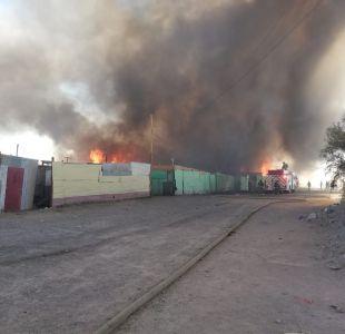 [VIDEO] Incendio en toma Frei Bonn de Calama deja 400 damnificados