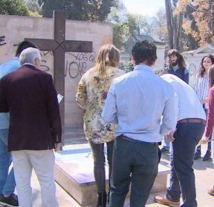[VIDEO] UDI se querella por ataque a tumba de Jaime Guzmán