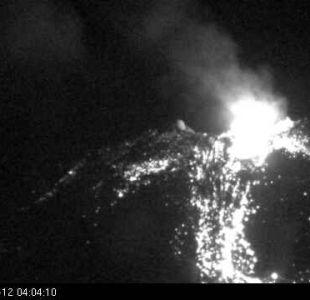 [FOTOS] Sernageomin: Complejo Volcánico Nevados de Chillán reporta nuevo evento explosivo
