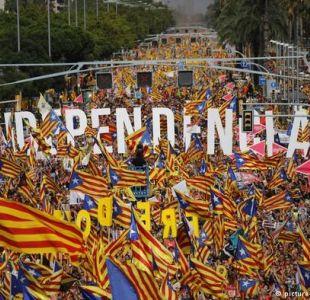 Multitudinaria marcha independentista en Barcelona