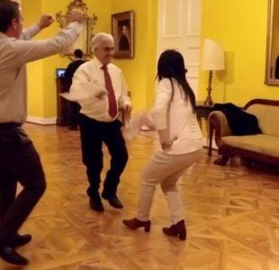 [VIDEO] Se viene el 18: Presidente Piñera práctica sus pasos de cueca para inaugurar las fondas