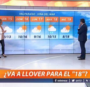 [VIDEO] ¿Lloverá en estas Fiestas Patrias? Michelle Adam explica cómo estará el 18