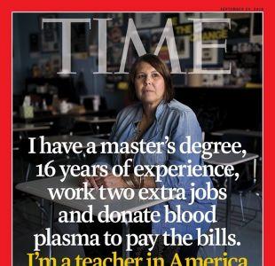 La portada de la revista Time que refleja la cruda realidad de los profesores en Estados Unidos