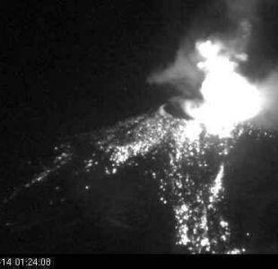 Sernageomin: Complejo Volcánico Nevados de Chillán registra nuevo pulso eruptivo