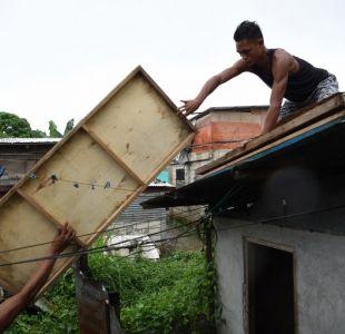 Más de mil evacuados en Filipinas por la llegada del súper tifón Mangkhut