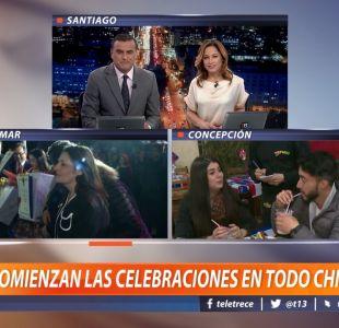 [VIDEO] Comienzan las celebraciones en todo Chile