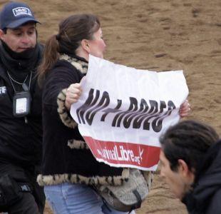 Protesta contra el rodeo en el Parque Padre Hurtado terminó con 23 personas detenidas
