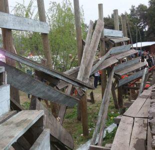 Accidente en medialuna de Rancagua deja siete personas lesionadas