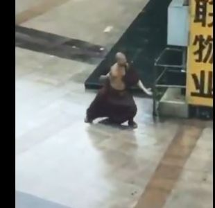 [VIDEO] El maestro Kung-fu que enfrentó al tifón Mangkhut en China