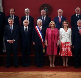 Así fue la foto oficial de Sebastián Piñera junto a sus ministros en La Moneda