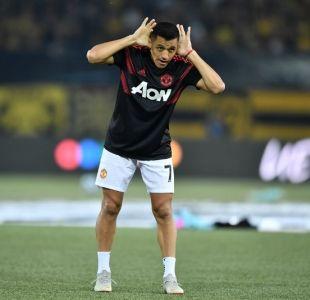 Alexis Sánchez en el calentamiento previo al duelo frente al Young Boys