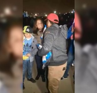 [VIDEO] Comerciante de La Pampilla agradece solidario gesto hacia él regalando su mercadería