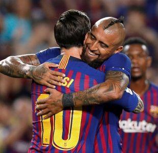 Arturo Vidal asistió a Messi para el primer tanto del Barcelona ante el Girona