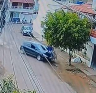 Impactante video muestra cómo una menor de edad atropelló a un ciclista en Brasil