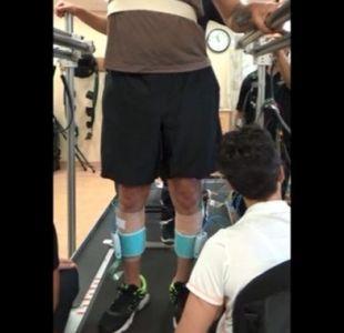 Electrodo implantado en la columna vertebral permitió caminar a un parapléjico