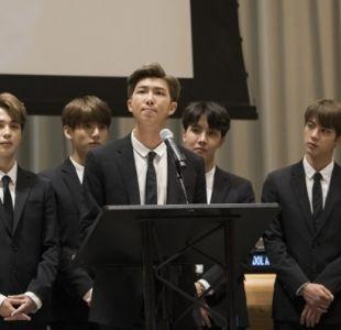 BTS sorprende a sus fanáticos con emotivo discurso ante la ONU