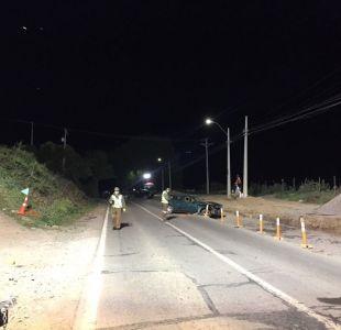 [VIDEO] Accidente entre dos automóviles y un camión deja un fallecido en Melipilla