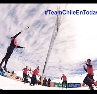 [VIDEO] Team Chile de Vóleibol Playa se toma la nieve en Valle Nevado