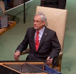 [VIDEO] Piñera arremete contra Maduro en la ONU y menciona la crisis en Quintero