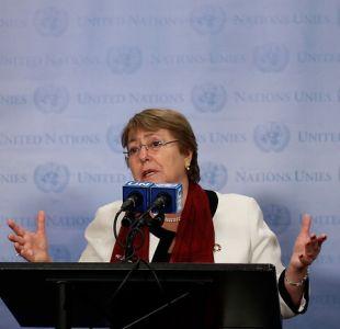 """Bachelet asegura que no siempre es """"útil"""" una intervención cuando hay violación de los DDHH"""