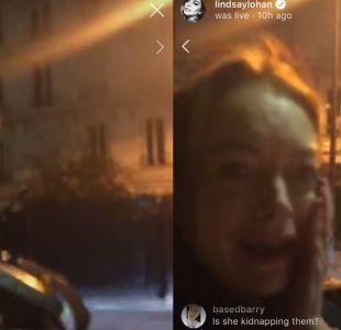 El controvertido video viral en que Lindsay Lohan intenta separar a dos niños de sus padres