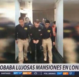[VIDEO] Detienen a chileno expulsado desde Inglaterra por robar mansiones