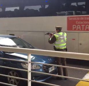 [VIDEO] Nuevo incidente entre conductor de Uber y carabinero