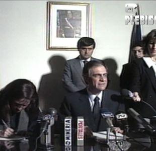 [VIDEO] La declaración del ministro del Interior tras el triunfo del NO