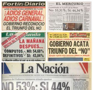 [FOTOS] Las portadas de los diarios el día después del triunfo del No