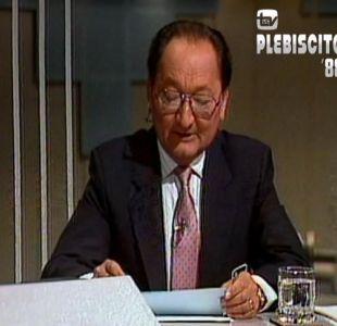[VIDEO] Así cubrió Canal 13 el plebiscito de 1988