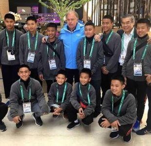 Los niños atrapados en Tailandia son homenajeados en los JJ.OO. juveniles en Argentina