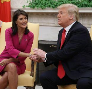Nikki Haley renuncia como embajadora de EE.UU ante la ONU