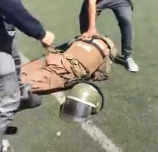 Violento registro muestra agresión a Carabinero en el INBA