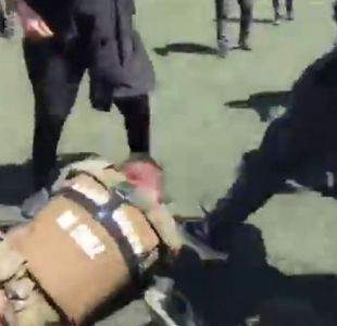 Carabineros por agresión en el INBA: El que patea a un funcionario, está pateando a Chile