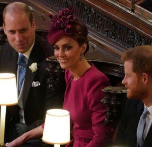 [FOTOS] La mala pasada que le jugó el viento a Kate Middleton en la boda de la princesa Eugenia