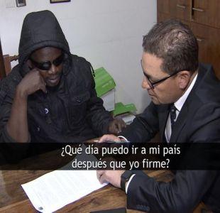 [VIDEO] Haitianos se inscriben para irse de Chile