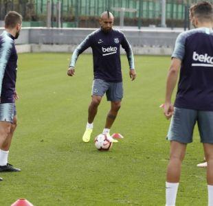 [VIDEO] Arturo Vidal se reintegra a las prácticas de FC Barcelona tras amistosos de La Roja