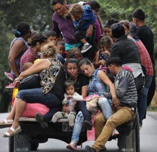 Caravana de migrantes hondureña comienza a llegar a México